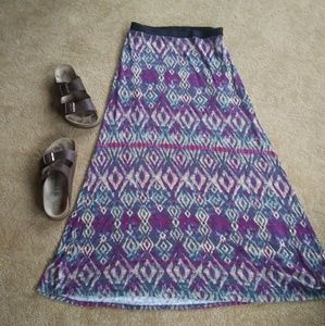 Free People Aztec Ikat maxi skirt size M